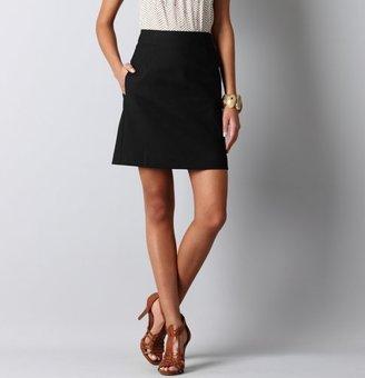 LOFT Textured Canvas A-Line Skirt