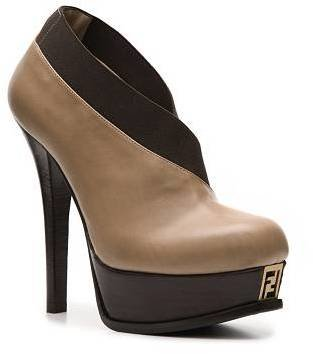 Fendi Leather Platform Bootie