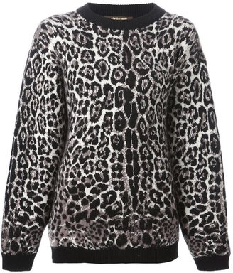 Roberto Cavalli leopard motif sweater