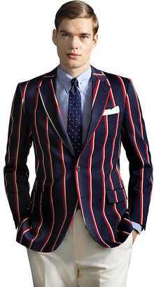Brooks Brothers The Great Gatsby Collection Red, White and Navy Stripe Regatta Blazer