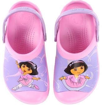 Crocs Dora Ballet Clog (Toddler/Little Kid) (Carnation) - Footwear