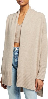 Frame Draped Cashmere-Wool Cardigan