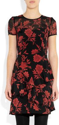 DKNY Jocelyn printed stretch silk crepe de chine dress