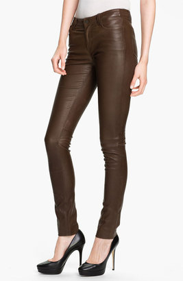 Vince Skinny Stretch Leather Pants