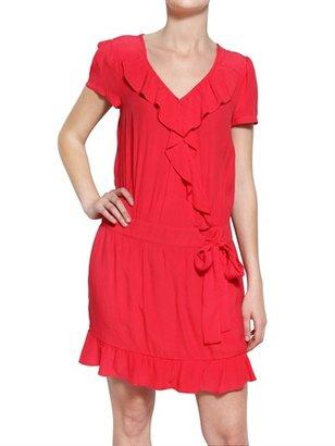 2two Faux Wrap Crepe Dress