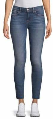7 For All Mankind Ankle Skinny Cut Off Hem Jeans
