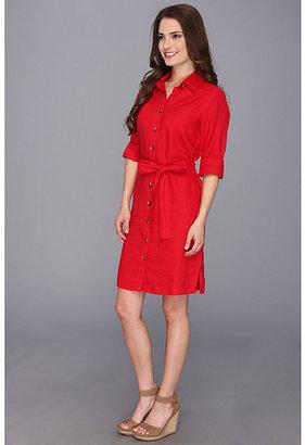 Pendleton Petite Palisades Linen Shirt Dress