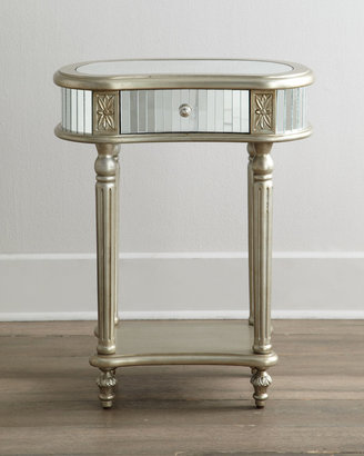 """Horchow """"Melrose"""" Mirrored Side Table"""
