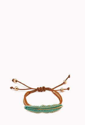Forever 21 Eclectic Feather Rope Bracelet