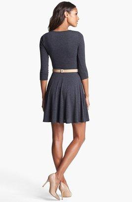 Three Dots Fit & Flare Sweater Dress