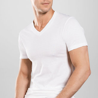 STAFFORD Stafford 4-pk. Blended Cotton V-Neck T-Shirts $28 thestylecure.com
