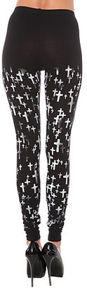 See You Monday The Cross My Heart Leggings in Black & White