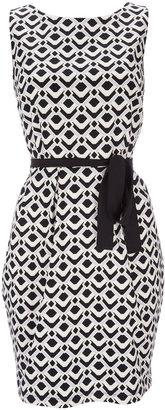 Wallis Black And White Sleeveless Dress