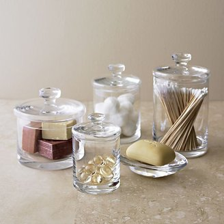 Crate & Barrel Glass Canisters Set of Four