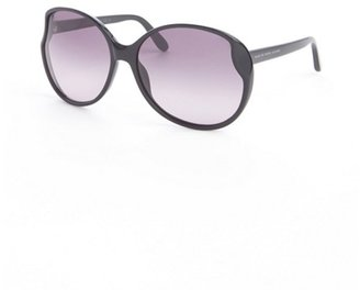 Marc by Marc Jacobs black acrylic round oversized retro sunglasses