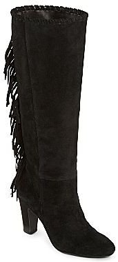 JCPenney Cosmopolitan Odessa Fringed Tall Suede Boots