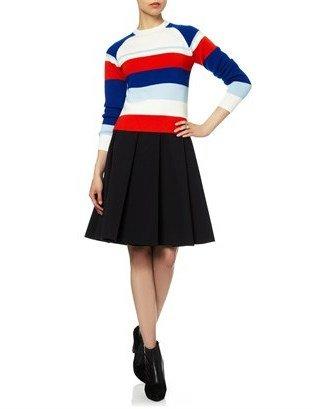 J.W.Anderson Black Ten Pleat Skirt