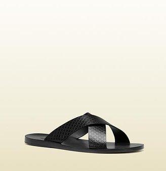 Gucci Criss-Cross Slide Sandal