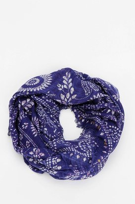 Urban Outfitters Embellished Woodblock Eternity Scarf