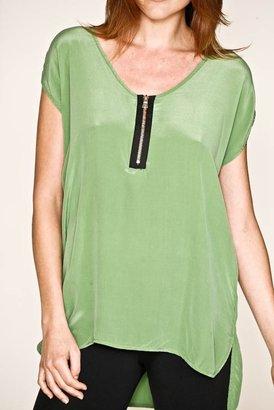 Gypsy 05 Silk Zip Tunic in Green