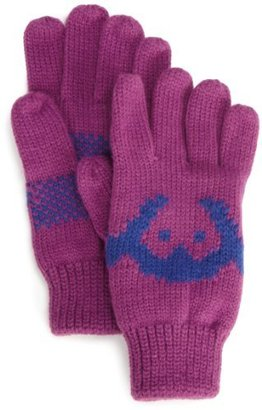 Appaman Girls 7-16 Knit Logo Gloves, Purple Rain, Large
