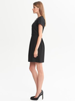 Banana Republic Embellished Fit-and-Flare Dress