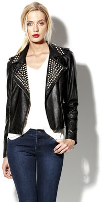 Vince Studded Faux Leather Jacket