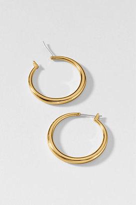 Lands' End Women's Classic Hoop Earrings