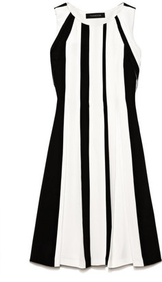 Thakoon Preorder Heavy Silk Contrast Pleated Dress