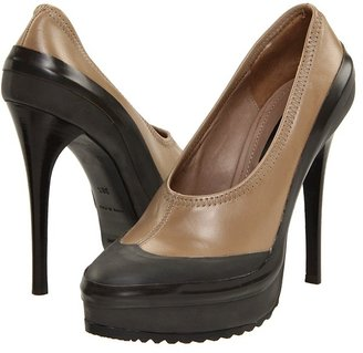 Burberry Leather Platform Pump (Taupe) - Footwear