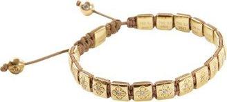 Shamballa Jewels Diamond & Gold Flat Bead Bracelet