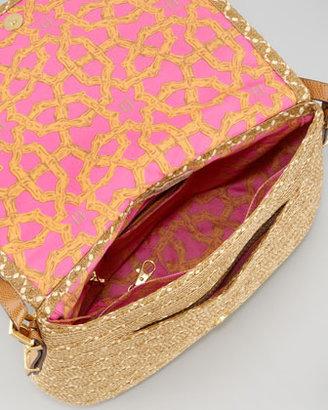 Eric Javits Squishee Law Shoulder Bag, Natural Mix