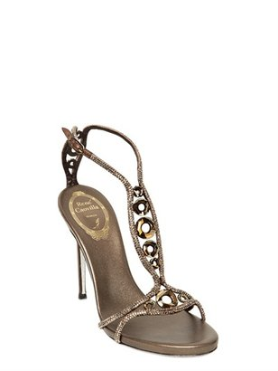 Rene Caovilla 105mm Metallic Calf & Swarovski Sandals