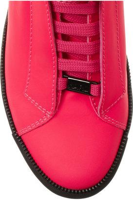 Karl Lagerfeld Leather high-top wedge sneakers