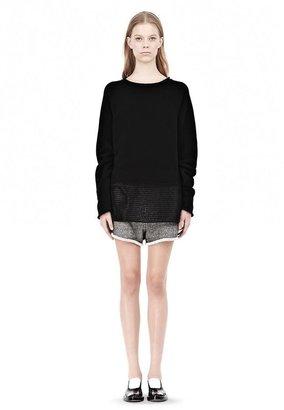 Alexander Wang French Terry Sweatshirt With Mesh