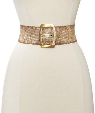 Streets Ahead Women's Metalic Gold Stretch Belt