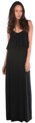 Veronica M Ruffle Front Maxi Dress