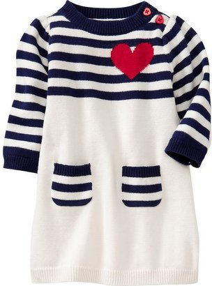 Old Navy Striped Color-Blocked Sweater Dresses for Baby