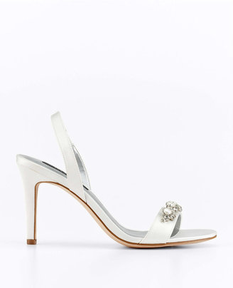 Ann Taylor Jackie Pearlized Bead and Rhinestone Slingback Sandals