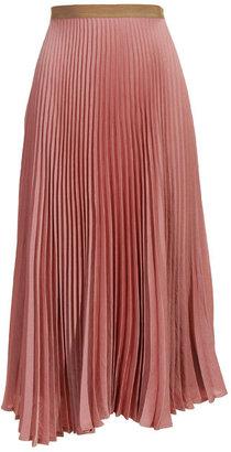 Dries Van Noten Pink pleated skirt