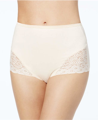 Bali Women Firm Tummy-Control Lace Trim Microfiber Brief Underwear 2 Pack X054