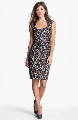 Jax Cap Sleeve Lace Sheath Dress
