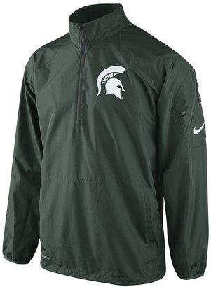 Nike michigan state spartans lockdown 1/2-zip performance jacket - men