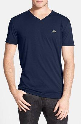Men's Lacoste Pima Cotton Jersey V-Neck T-Shirt $49.50 thestylecure.com