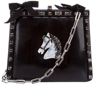 Borsa Cecilia Vintage lizard skin shoulder bag