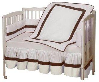 Baby Doll Bedding Classic Crib Bedding Set - White