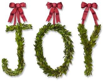 Williams-Sonoma Myrtle Letter Wreath, Joy