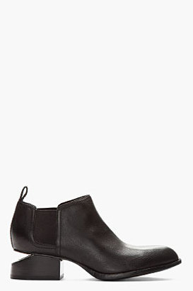 Alexander Wang Black nickel-heeled Kori Ankle Boots