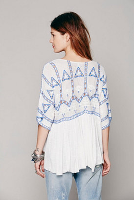 Free People Embroidered Eyelet Blouse
