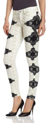 7 For All Mankind Women's Skinny Jean in Layered Lace
